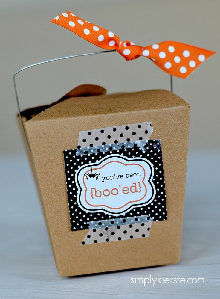 You've been boo'ed--super fun Halloween tradition!  FREE printables!!   http://simplykierste.com