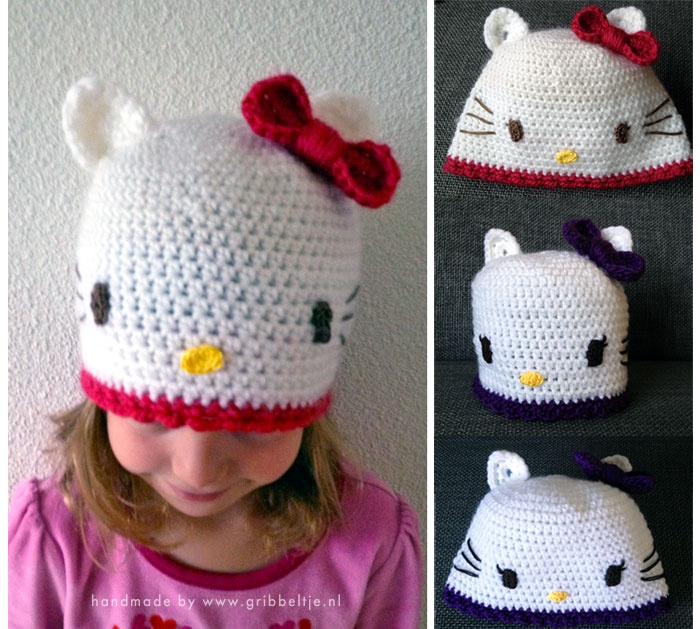 Hello Kitty Baby Hat Knitting Pattern : 33 best images about Crochet - by me on Pinterest Crochet baby blankets, Cr...