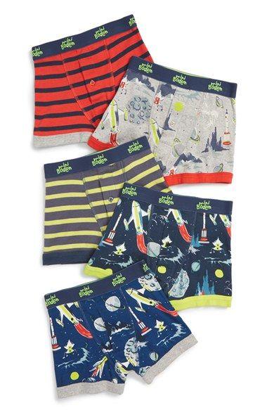 Mini Boden Cotton Boxer Briefs (5-Pack) (Toddler Boys & Little Boys) | Nordstrom