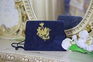 Blå Mockaväska från Baldinini Italien - La Reine Inredningar