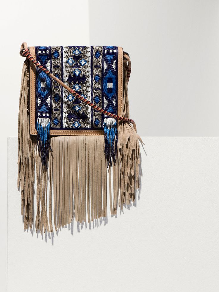 AZTEC EMBROIDERY CROSS-BODY BAG