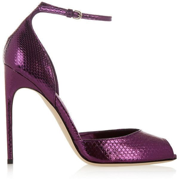 Brian Atwood Oriana metallic watersnake sandals, Women's, Size: 40.5 (3,020 PEN) ❤ liked on Polyvore featuring shoes, sandals, heels, brian atwood, pumps, purple, d'orsay shoes, strap high heel sandals, brian atwood sandals and strappy heel sandals #brianatwoodheelsstrappysandals #brianatwoodoriana #brianatwoodheelspump