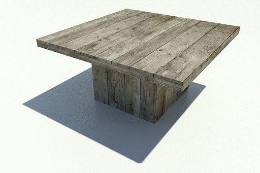 Steigerhouten tuinmeubelen | Houtwonders | Steigerhouten tuintafel vierkant 160x160