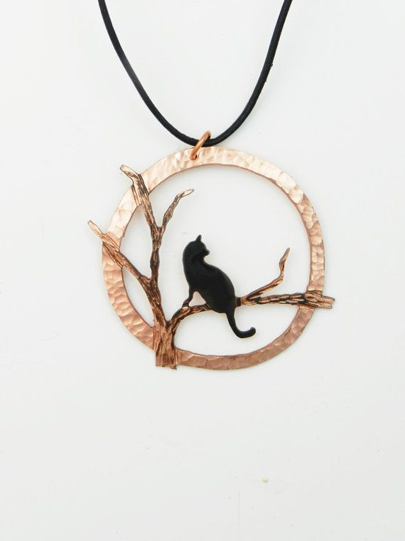 Collier de chat Halloween pendentif chat par ImagesbyKentOlinger