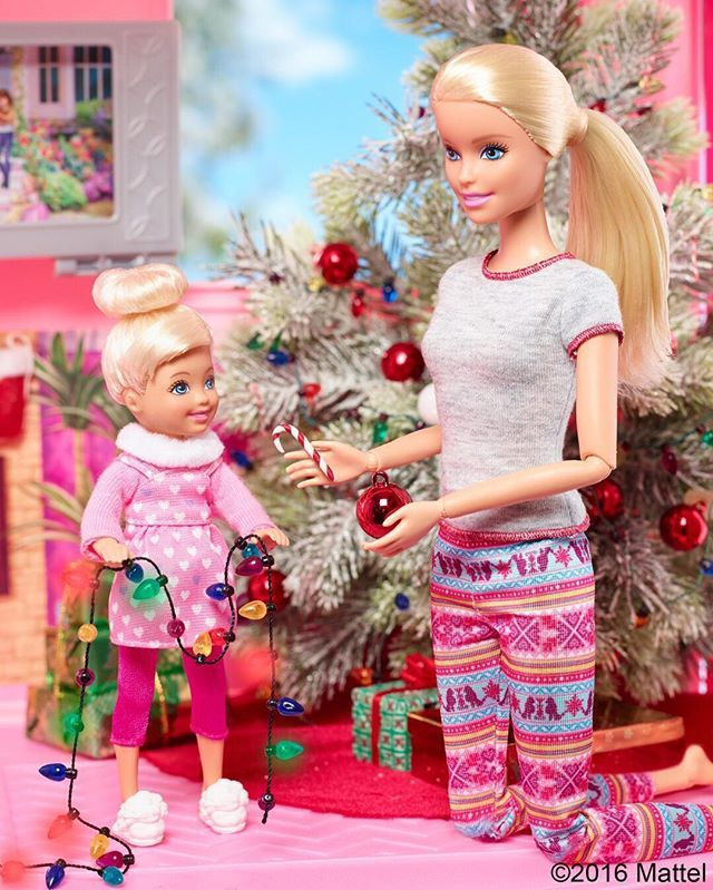 The Holidays are a time to spend with loved ones and create new traditions. #Barbie  Click the link in our bio to shop!