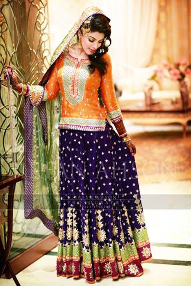 Latest Bridal Mehndi Dresses Collection 2016-2017 | BestStylo.com