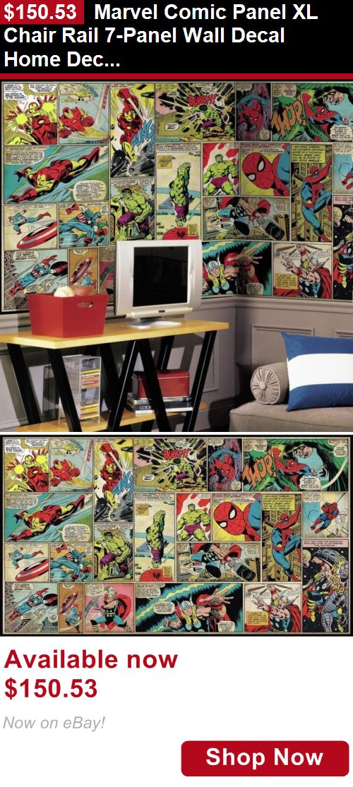 Other Nursery Wall Decor: Marvel Comic Panel Xl Chair Rail 7-Panel Wall Decal Home Decor Classic Indoor BUY IT NOW ONLY: $150.53