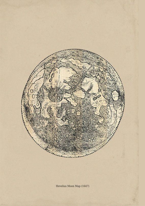 Hevelius Moon Map