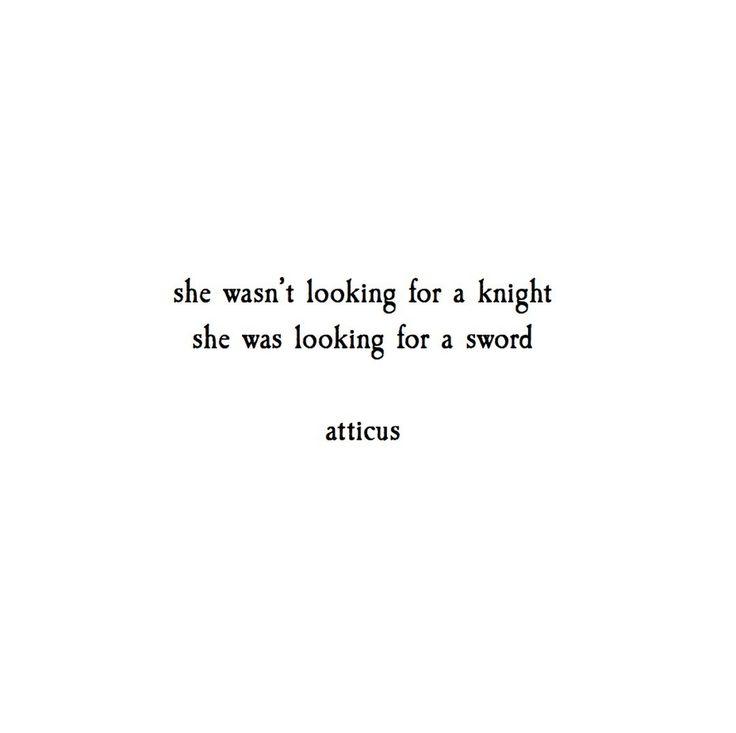 'Knights & Swords' @atticuspoetry #atticuspoetry