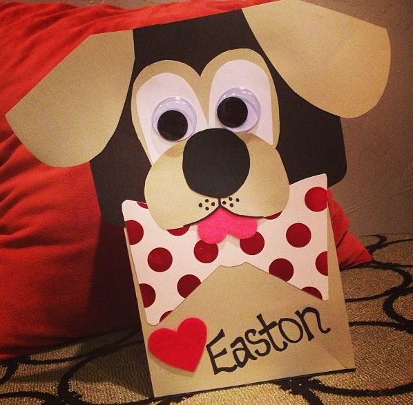 Easton's Valentines box we made tonight! :)