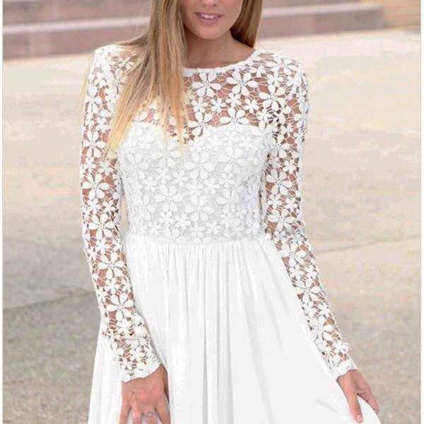 Innocent White Embroidered Princess Skater Dress