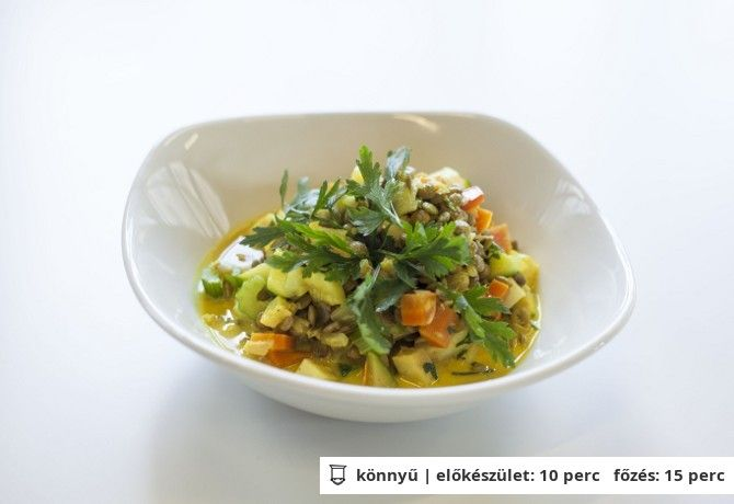 Zöldséges lencse curry