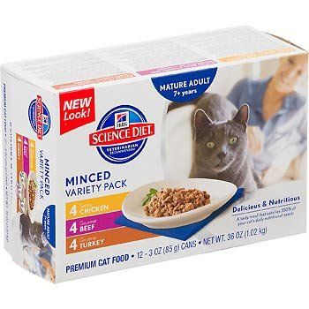 Hill's Science Diet Senior Gourmet Variety Pack Canned Cat Food