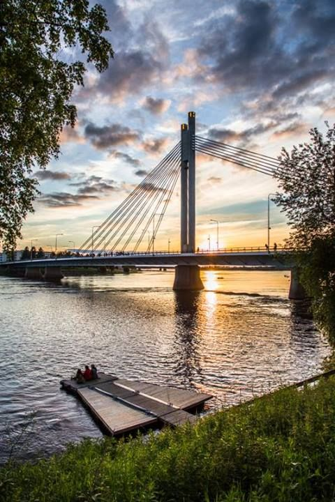 Midnight sun in Rovaniemi #finland