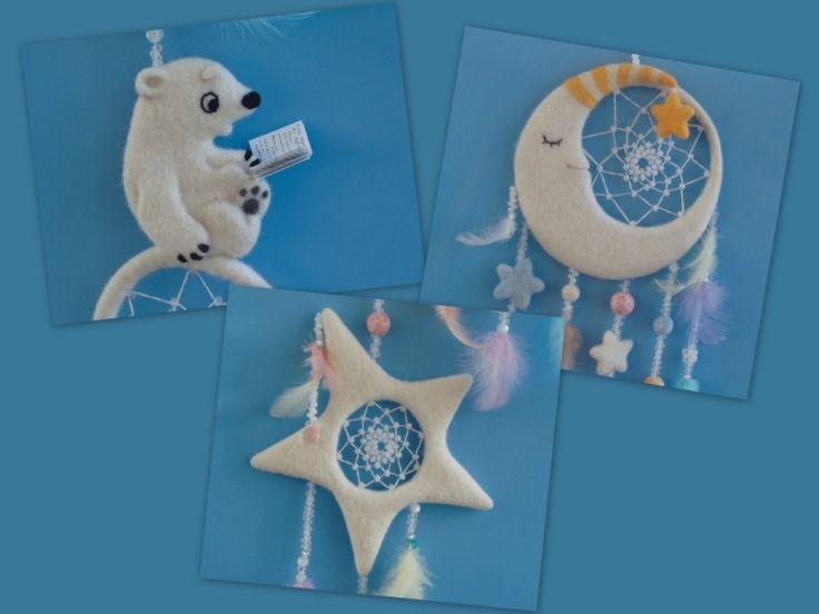 """Gallery.ru / Ловец снов для ребенка """" Лунный медведь"""" - Наш конкурс-11! (работы разных мастеров) - fre-zia"""