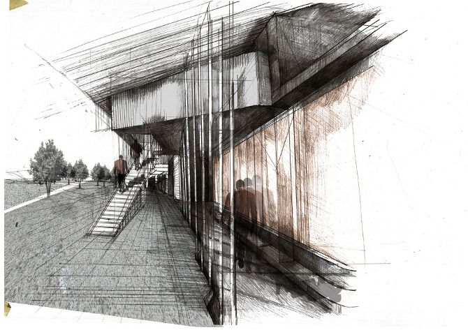 ARCHITECTURAL COLOR SKETCHES | 627  fabriciomora:    Grace Mills