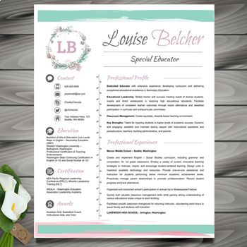 The 25+ best Teacher resume template ideas on Pinterest Resumes - references on a resume template