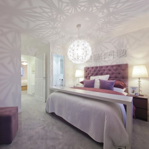 A crystal ball chandelier can cast captivating shadows on your walls, effortlessly creating a pretty design. #InteriorDesign #InteriorDesignIdeas #Home #Bedroom #TopTip #NewHome #FirstHome #TaylorWimpey #Chandelier