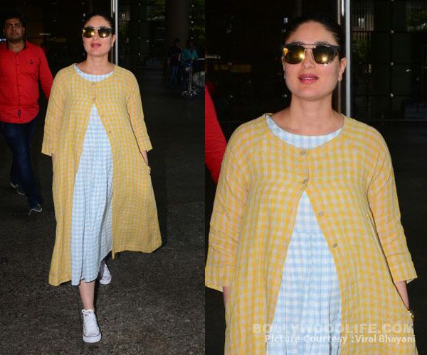 A pregnant Kareena Kapoor radiates JOY in this bright yellow ensemble – view HQ pics