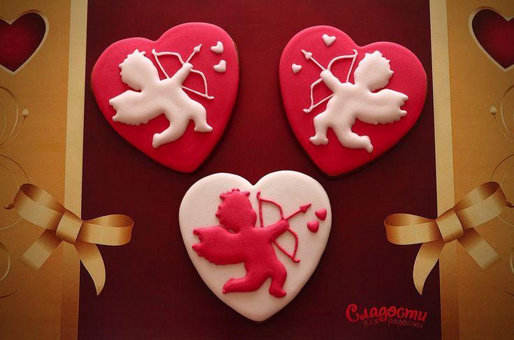 Имбирный пряник #купидон #ангел #деньсвятоговалентина #валентинка…