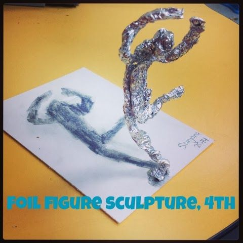 Foil Figure Sculpture - Mrs. Knights Smartest Artists