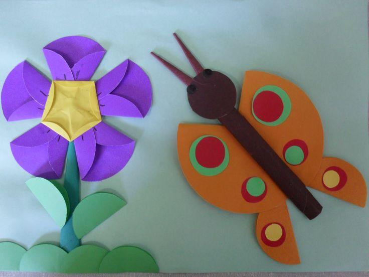 Kelebek ve çiçek
