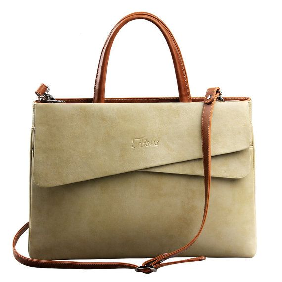 Genuine Leather woman handbag for laptop large ladies office work bags