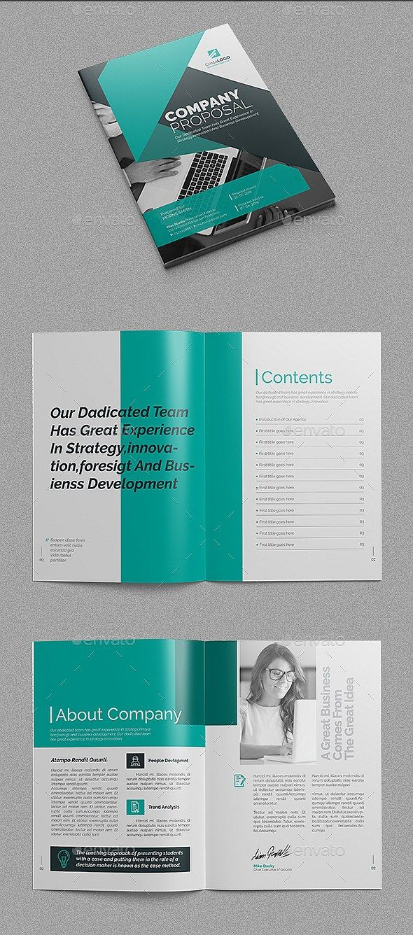 18 Pages Company Proposal Template Illustrator Indesign Eps