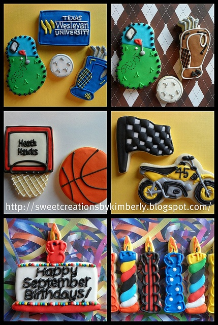 sports-themedCookies Ideas, Cake, Cookies Decor, Cookies Design, Decor Cookies, Art Cookies, Cookies Sports, Sweets Tooth, Cookies Favorite