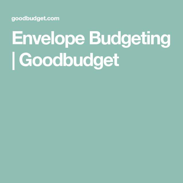 Envelope Budgeting | Goodbudget