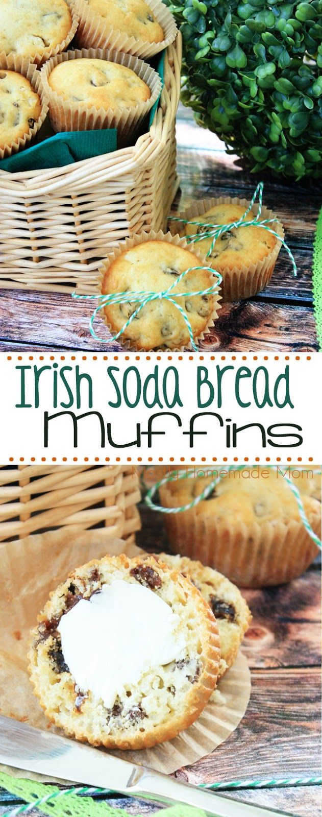 Delicious Irish Soda Bread Muffins - perfect for busy mornings year round or to celebrate St. Patrick's Day!