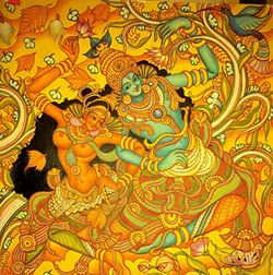 Mural paintings of kerala about the wonderful world of for Ananthasayanam mural painting