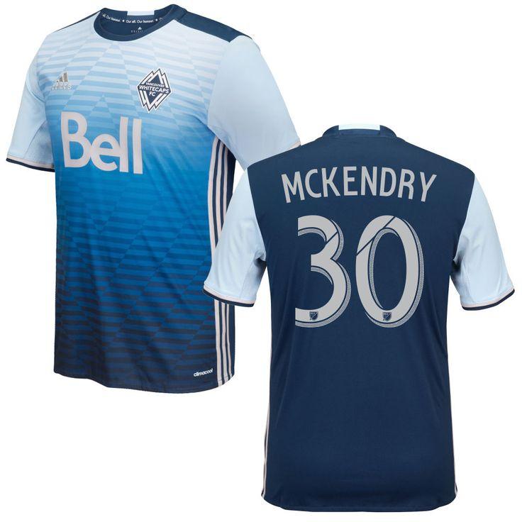 Ben McKendry 30 Vancouver Whitecaps FC 2016/17 Away Soccer Jersey Deep Sea Blue