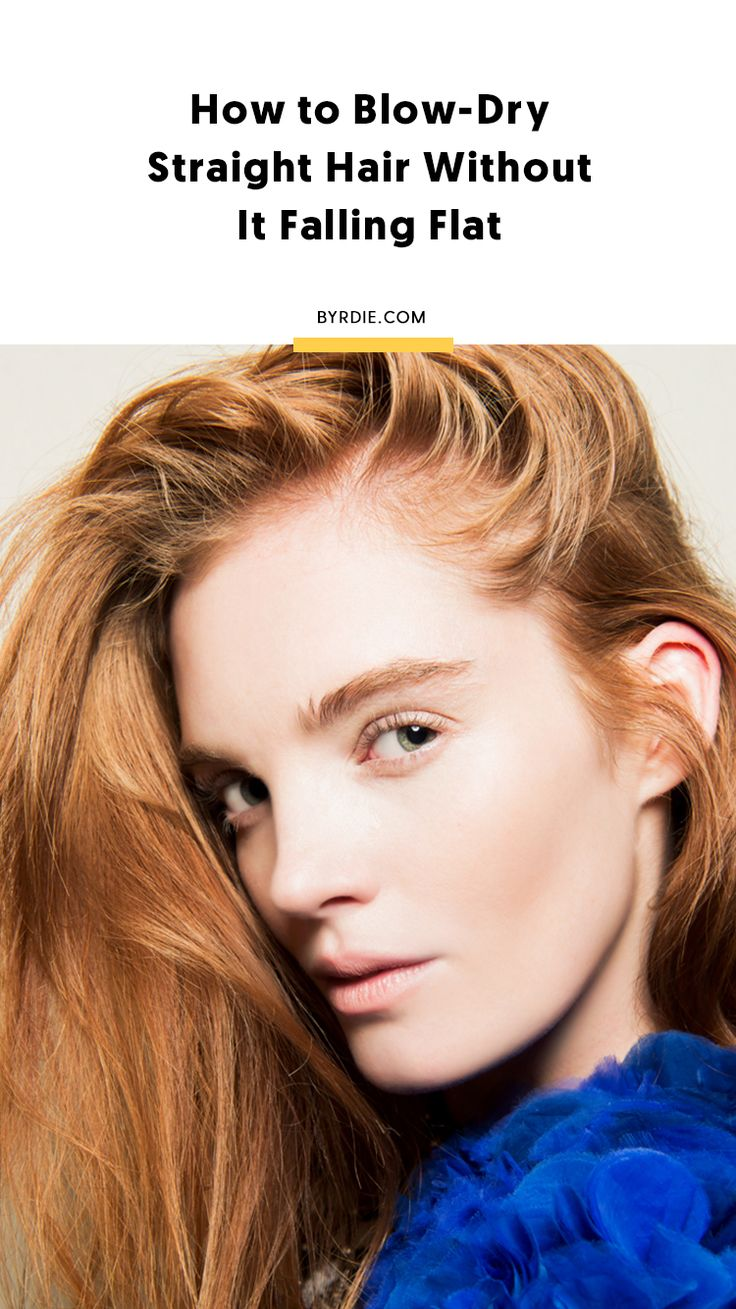 How to blow-dry straight hair