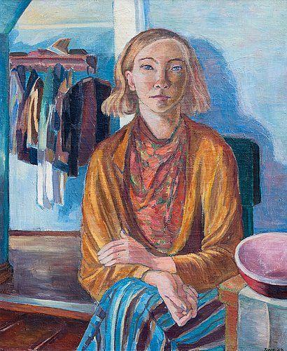 Tove Jansson Muotokuva 1936. Öljy kankaalle 66x54cm