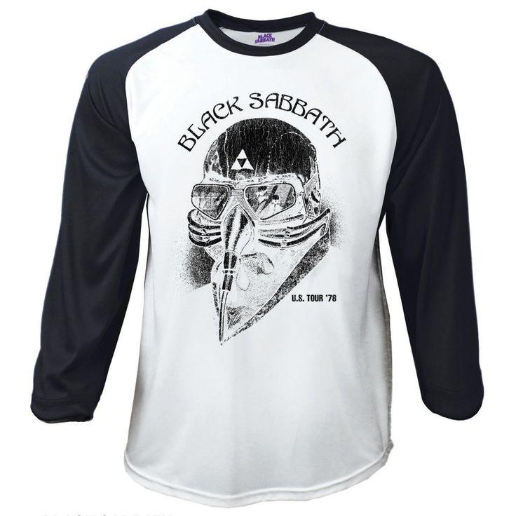 Black Sabbath Men's Raglan/Baseball Tee: US Tour 78' Wholesale Ref:BSBS01WB