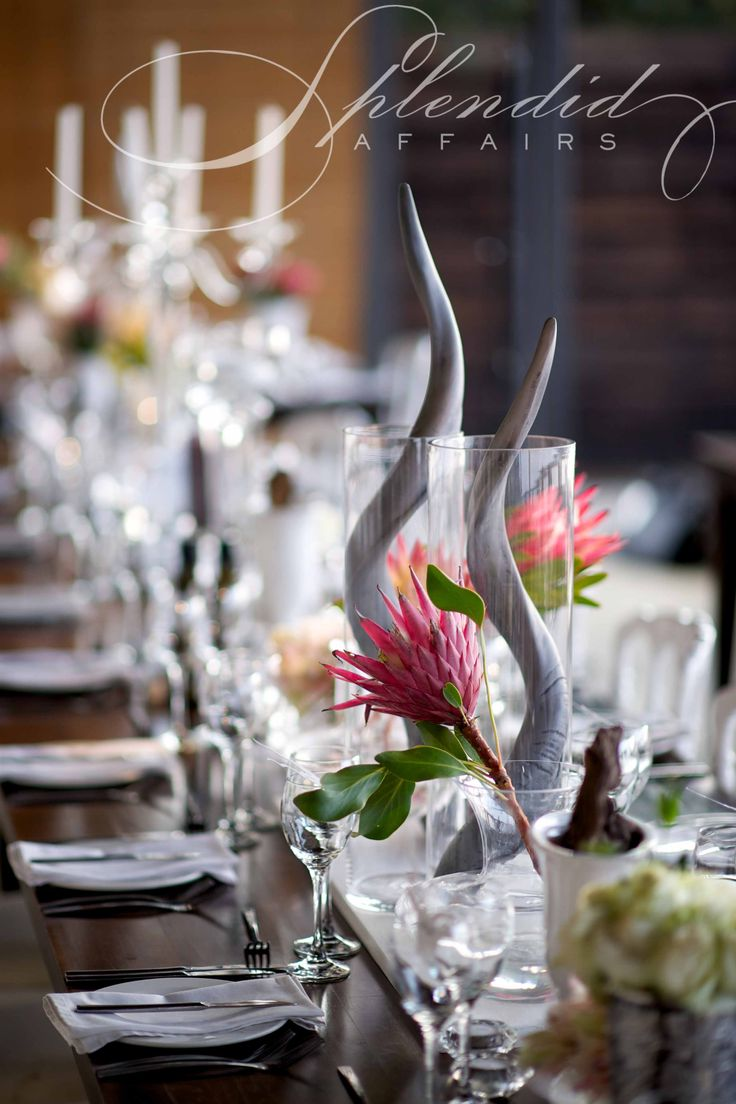 Modern wedding with glamorous African Twist Styling, flowers and decor by Splendid Affairs Photography by Ryan Graham