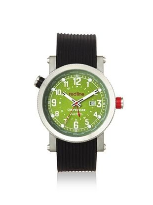 86% OFF red line Men's 18003-08WH Compressor Black/Green Silicone Watch