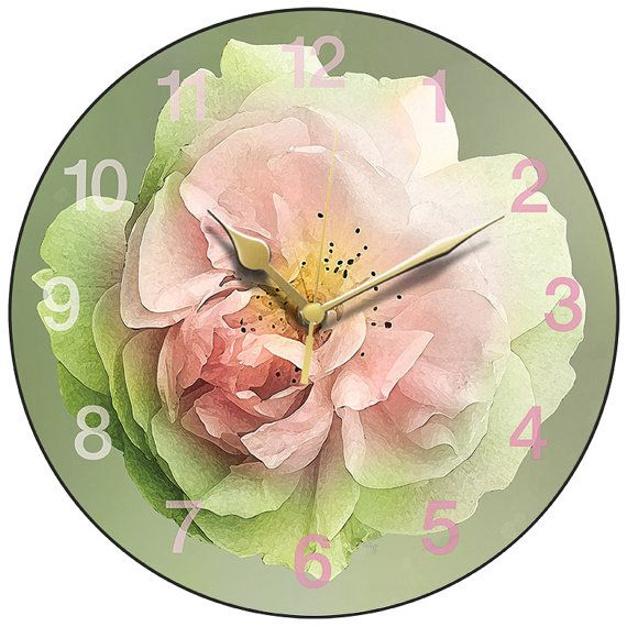 Pink Rose Clock by AtticLightHome on Etsy #dorsetteam