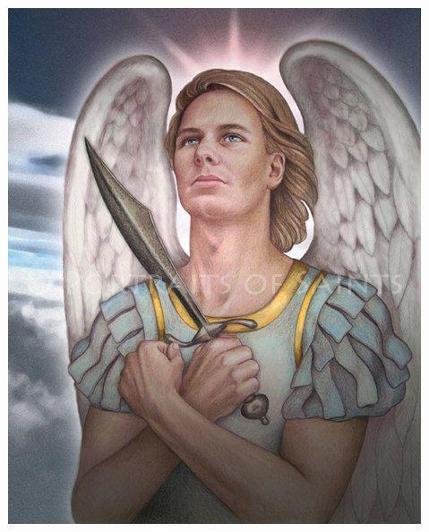 St Michael the Archangel 8x10 Art Print by PortraitsofSaints, $12.00