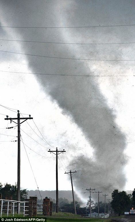 Violent tornado system travels through Oklahoman cities/towns Elmore City, Katie and Wynnewood, inflicting 'catastrophic damage.' 2016.