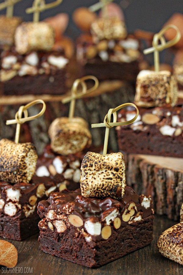 Campfire Rocky Road Brownies - SugarHero