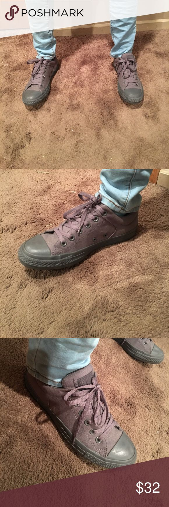 All Gray Converse Low Top All Gray Converse Low Tops Size Men's 7. Good Condition, very minor scuffs on the toes. Comes with Original box! Converse Shoes Athletic Shoes