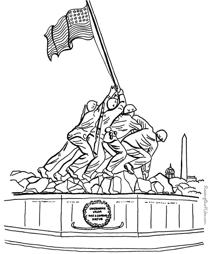 patriotic coloring pages - Patriotic Coloring Pages Print