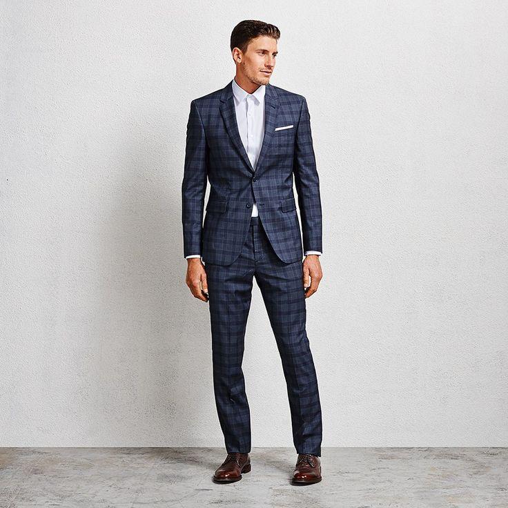 Flemming Slate Blue Check Suit #suit #bluesuit #bluechecksuit #aquila
