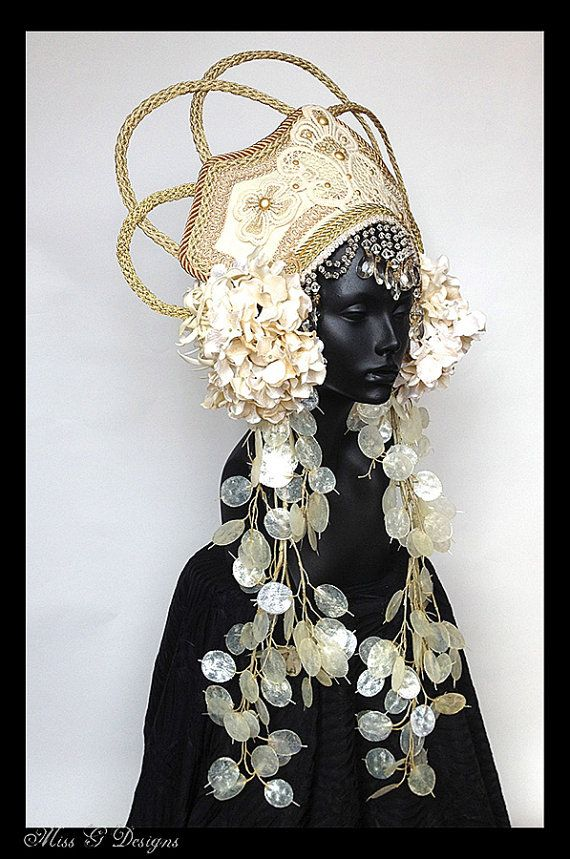 MADE TO ORDER Empress Headdress by MissGDesignsShop on Etsy