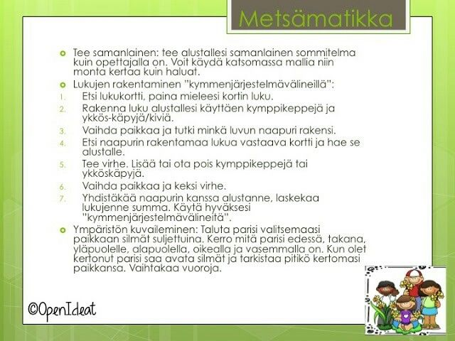Metsämatikka - openideat.blogspot.com