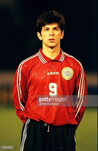 Portrait of Levan Kobiashvili lining up for Georgia before the European Championship qualifier against Slovenia in Tblisi Georgia Mandatory Credit...