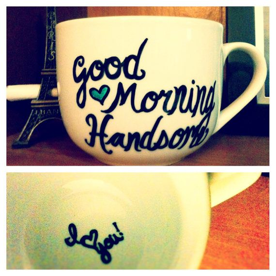 Cute Mug. You could draw all sorts of fun things and make it a gift for literally anyone!