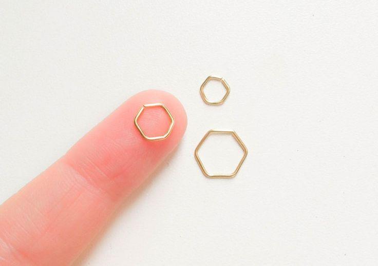Gesichtspiercings - Hexagon Helix Piercing  - ein Designerstück von moonlidesigns bei DaWanda